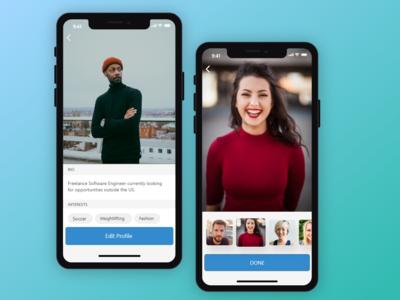 Edit Profile Interface ux ui mobile fashion daily app