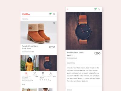 Ecommerce app mobile app uidesign design ux ui