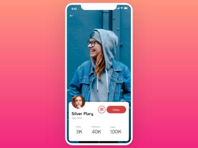 Minimal Profile UI mobile app uxdesign ux design ui