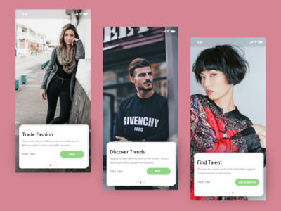 Onboarding for a fashion app ux uidesign ui onboarding