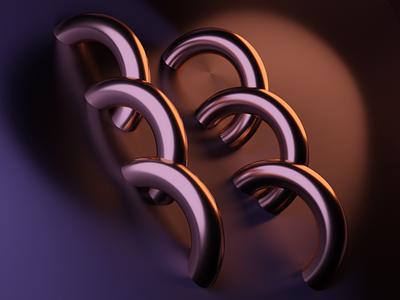 Rings/Plane dailyrender glossy gold blender 3d art design low poly cyclesrender daily 3d blender3d