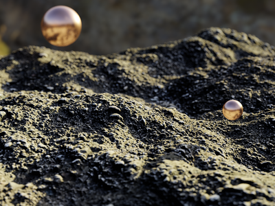 Sci Fi Ground pbr sphere glossy blender design 3d art cyclesrender blender3d 3d