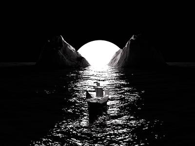 Boat and sea render atmospheric blender design daily 3d art cyclesrender blender3d 3d
