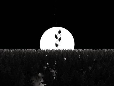 Forest blackandwhite albumcover music 3d art atmospheric blender3d blender forest