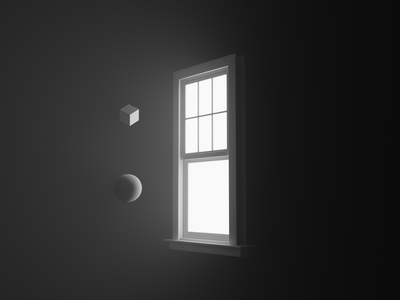 Window on nothing render music atmospheric blender design daily 3d art cyclesrender blender3d 3d
