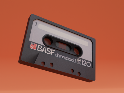 Audio Tape colors render music blender design 3d art cyclesrender blender3d 3d retro design retro