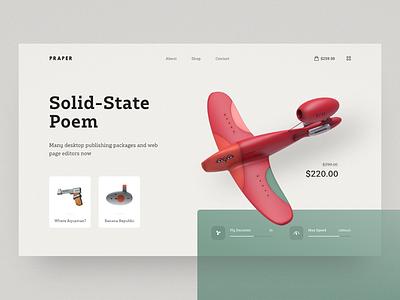 Praper airplane minimal app minimal trand user experience user inteface webdesign header homepage landing page ux ui