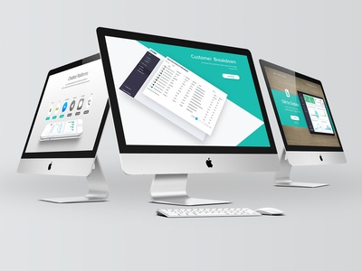bCRM webdesign app modern clean home page design