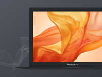 Dark Apple Macbook Air Mockup