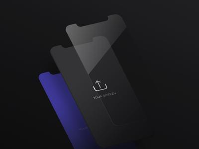 Free Isometric Iphone X Screen Mockup free ux-ui isometric iphone x mockup