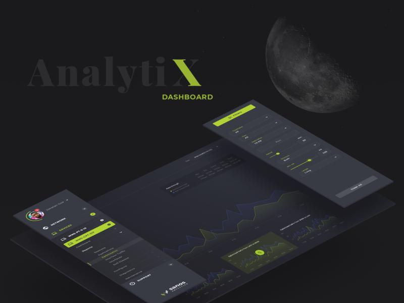 Analytics Dashboard dark ui vizualization data dashboad analytics
