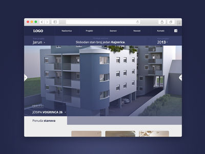 Real Estate Website real estate immobilien buildings fresh clean flat layout responsive