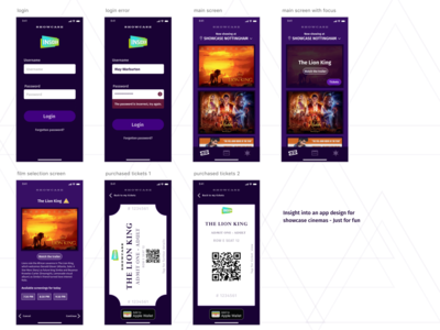 Showcase cinema app design insight