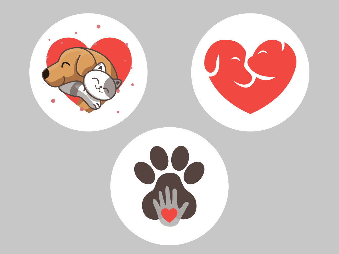 Пример значков животные персонаж милый иллюстрация дизайн вектор