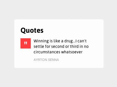 Dribbble message simple red quotes box