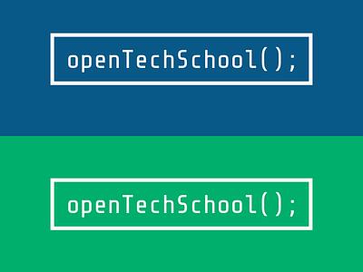 Open Tech School Logo Concept logo concept logo simple strong brand blue green