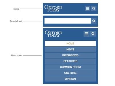 Oxford Today Menu search mobile university blue oxford menu