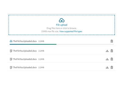 File upload upload download files coded design progress bar file upload clean