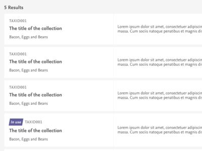 Listing table clean design code list listing