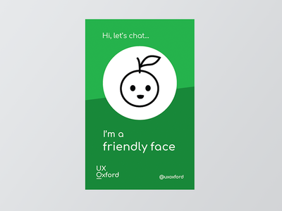 'Friendly face' lanyard insert green print face friendly insert lanyard