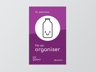 UX Oxford organiser lanyard purple print face organiser insert lanyard
