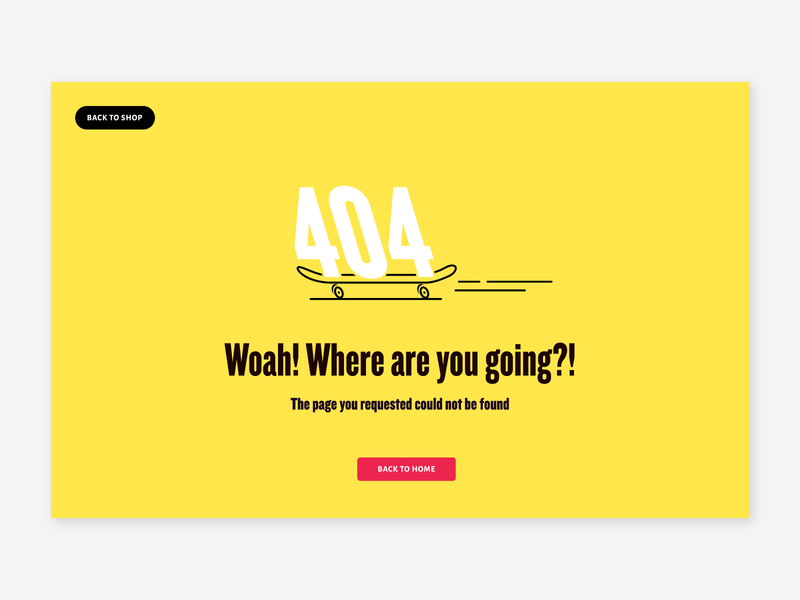 100 days of UI – 404 skateboarder 404 illustration design web ux ui dailyui008 dailyui