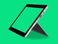 Surface 2 - Vector Mockup