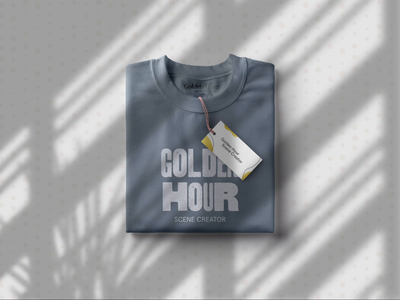 T-shirt mock up using Golden Hour Scene Creator window scene blowing in the wind house plant dracaena plant natural textures t shirt graphic shadows shadow animations organic shadow video t-shirt mockup shadow vector after effects animation