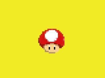 Toad's head 16-bit style pixel 3d animation sega mega drive mario toad animation render cinema4d 16-bit