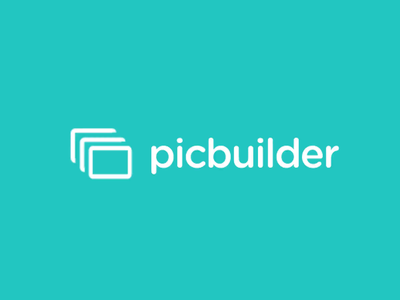 Animated logo for web-based app picbuilder logo vector branding concept branding and identity design typography branding design animation animated ident branding after effects animation animation after effects animated logo picbuilder