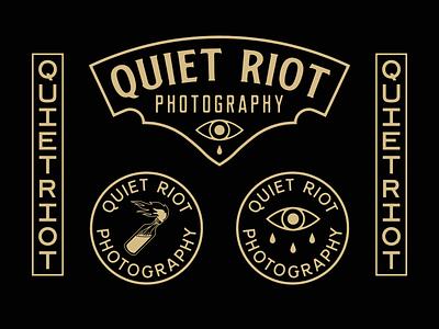 Quiet Riot Photography badge branding logo illustration design