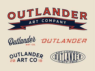 Outlander Art Company branding design typography illustration logo banner