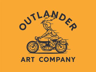 Outlander Art Company apparel design vector distressed illustration design