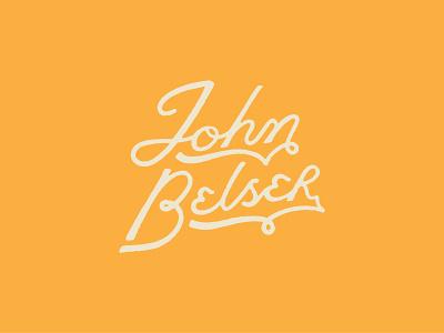 John Belser hand lettering type distressed design logotype typography logo logo design