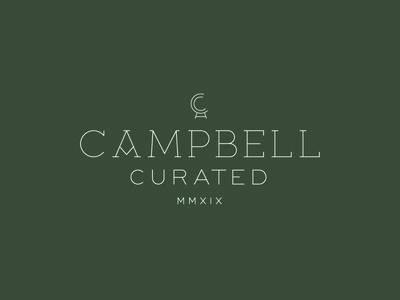 Campbell Curated icon branding type vector logo typography design