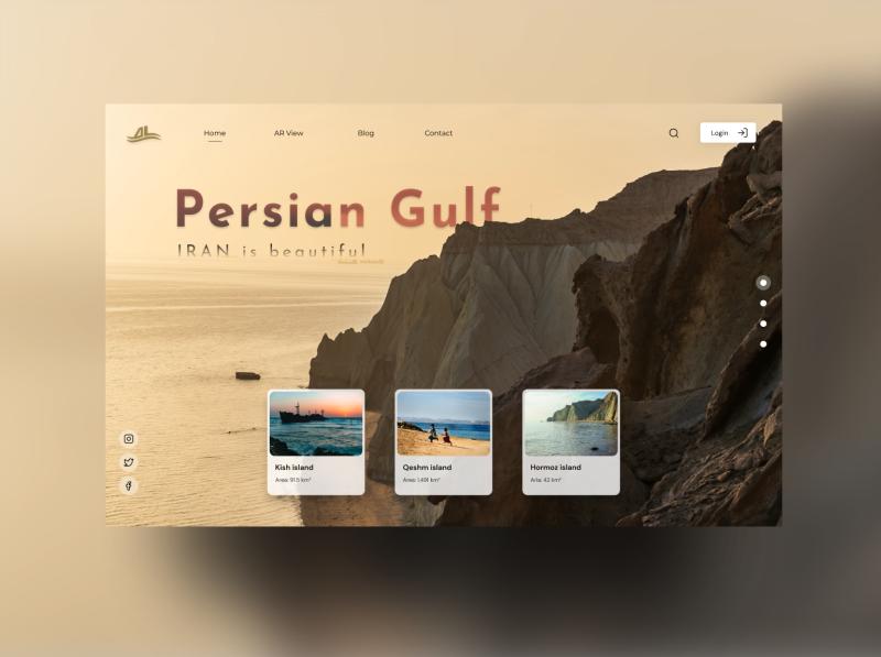 Persian Gulf landing page nature gulf tour website island outside web design ui design ux ui landing page landing iran persian gulf