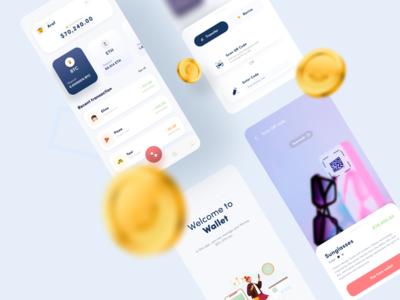 Wallet app concept design transaction transfer qr code pink dollar bitcoin mobile wallet app wallet application ui design app ux ui design ios android