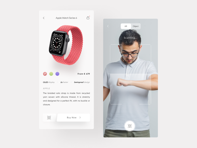 AR Watch Commerce 🛒 apple watch virtual reality augmented reality e-commerce clock watch ios application ui design app android ux ui design shop commerce