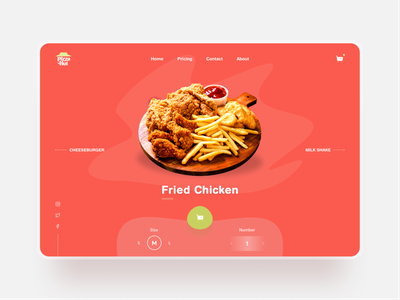 🍔 Food Ordering Web UI Concept order concept design web design website chicken pizza hut pizza food ordering food delivery red ux ui design