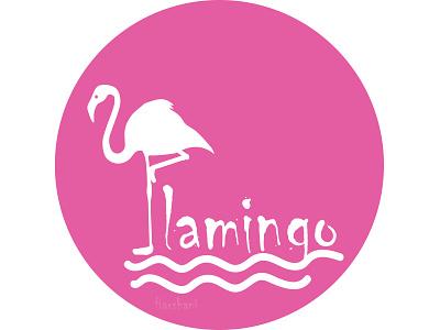 Flamingo pink bird bird logo pink logo flamingo logo illustration branding illustrator design