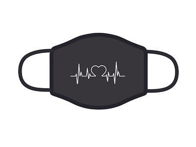 Design For Good Face Mask Challenge dribbble rebound covid19 good face mask graphic design blackmask heartbeat medical challange design mask