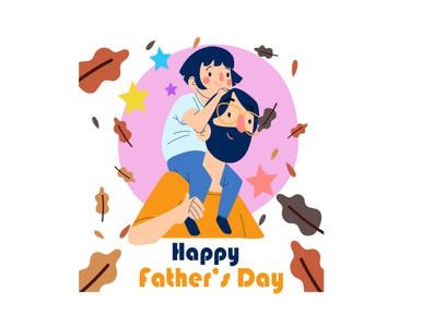 father's day father and daughter fathersday illustration design illustrator