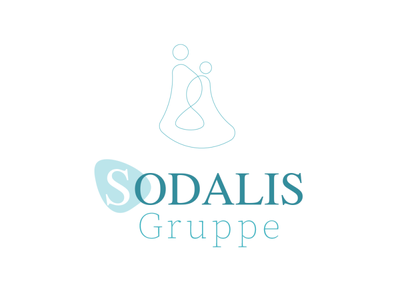 sodalies green logo simple logo logo careing eldershome elders 2man line logo 2 head