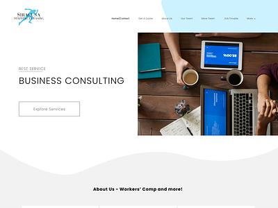 Business Consulting webdesign hero header minimalist service business