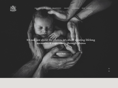 Family Photography site design dark theme portfolio site ux ui website photography family