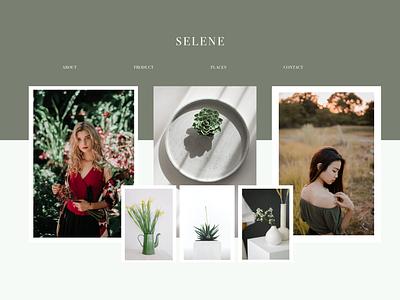 Selene - landing page hero site branding product shop ecommerce creative simple modern green website uiux landingpage website