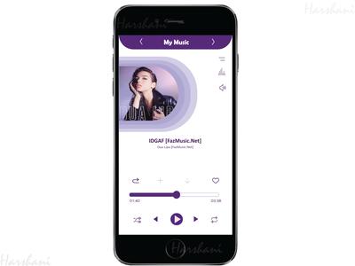 Music App song music album uiux ios track mobile ui music player illustrator mobile app