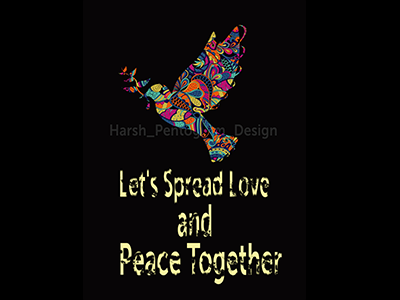 Let's Spread Love and Peace Together brand design photoshop dove peace love