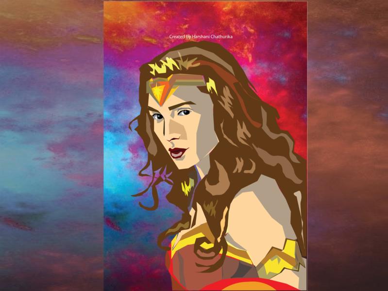 Dc comic Illustrator- Wonder Woman wonderwoman comic art dcfan comic illustration webdesign design illustrator