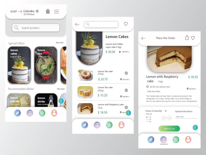 Food Delivery app -Order Page ios resturent app homepage menu item mobile uiux order page food delivery app delivery app food app app